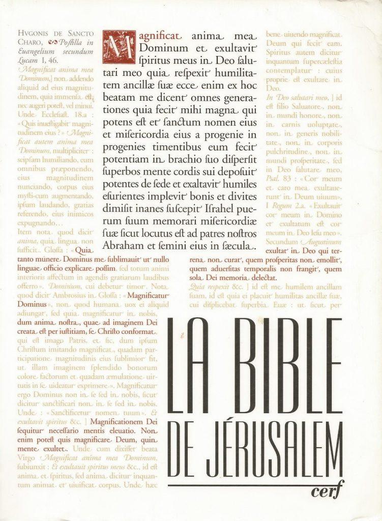 La Bible de Jérusalem 2000