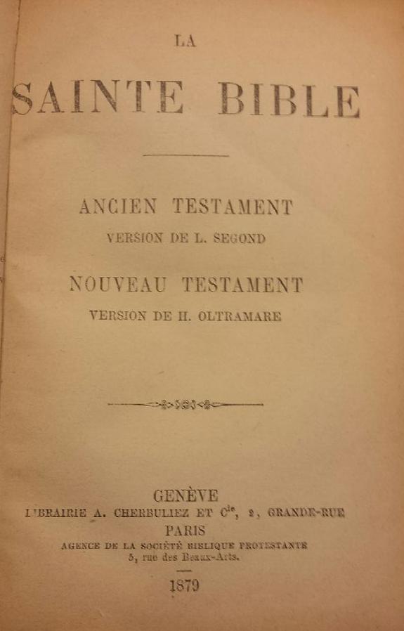 Louis Segond 1879